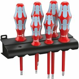 Wera 05022745001 3165 i/6 Screwdriver set, stainless and rac