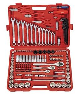 "Genius Tools 151 Piece 1/4"", 3/8"" & 1/2"" Dr. Metric & SAE Ma"