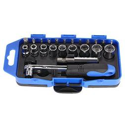 TOOGOO 23 in 1 Precision Mini Ratchet Screwdriver Bits Set S