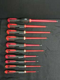 Bahco 10 Piece 1000V Insulated Screwdriver Set Ergo Slotted