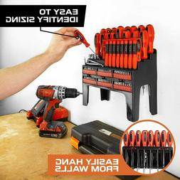 100 Piece Magnetic Screwdriver Set with Organizer Rack