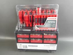 100 Piece Ultimate Screwdriver Set Rack Bits Nuts Driver Wal