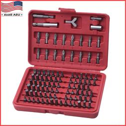 100pcs Security Bit Screwdriver Bit Set Torx Star Pozi Hex T