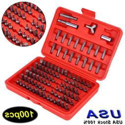 100pc security bit set torx star tamper