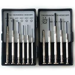 11 Piece Precision Screwdriver Set -Mini Micro Small-Flat He