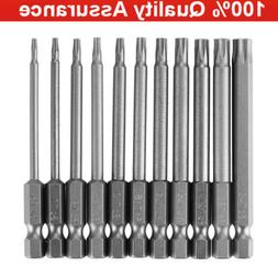 11x Torx Screwdriver Bit Set T6-T40 75mm Hex Security Magnet