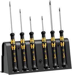 Wera 1578 A/6 Electronics Screwdriver Set and Rack, 6-Piece