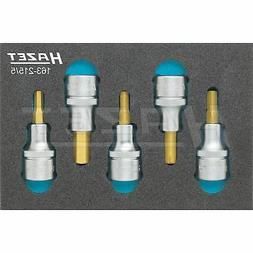Hazet 163-215/5  Screwdriver socket set