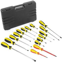 16pc Mechanics Screwdriver Set Cr-v Portable Handy Tool Scre