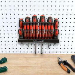 18 Piece Screwdriver Set with Wall Mount and Magnetic Tips-