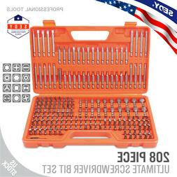 208-Piece Screwdriver Bit Set Security Bit Made Chrome Vanad