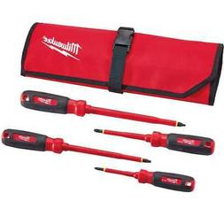 Milwaukee 48-22-2204 4-Piece Insulated Screwdriver Set with