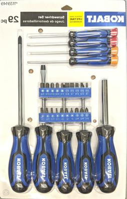 KOBALT 29 PC SCREWDRIVER PRECISION BIT SET MAGNETIC BIT HOLD