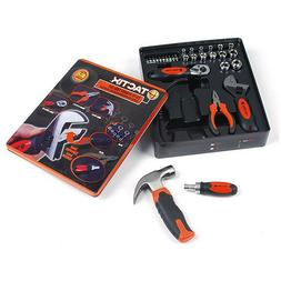 TACTIX 29 PC Stubby Tool Set Screwdriver Wrench Pliers Ratch