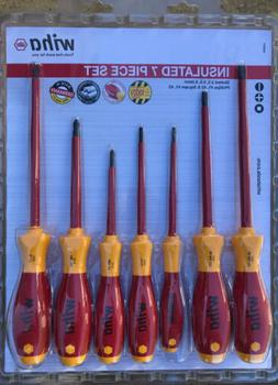 Wiha 32097 Insulated Slotted/Phillips/Square 7 Piece Screwdr