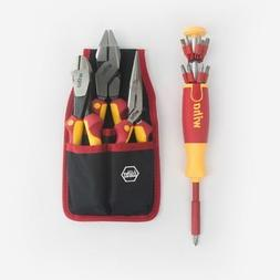 Wiha 32990 Insulated Pliers Cutters and  Pop-Up Bit Holder S