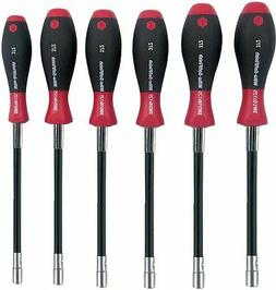 Wiha 37290 Long Flexible Shaft Nut Driver Set with SoftHandl
