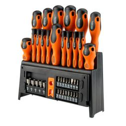 39 Pc Precision Magnetic Tip Screwdriver Set Storage Rack Ga
