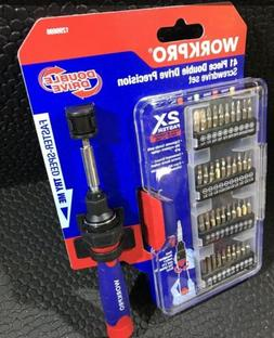 WORKPRO 41 PC DOUBLE DRIVE PRECISION SCREWDRIVER SET!   *Gre