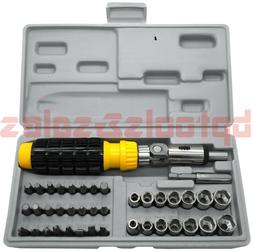 41pc Reversible Ratchet Screwdriver Set w/ Bits and Sockets