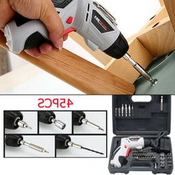 45PCS Power Tool Rechargeable Cordless Electric Screwdriver