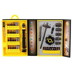 47 in 1 Hand Tools&Screwdriver bits Set With Organised Yello