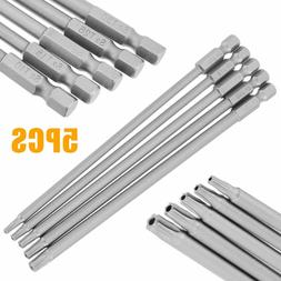 5Pcs 150mm Length Long Electric Steel Magnetic Screwdriver D