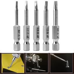 5pcs in One Set Magnetic Triangle Head Screwdriver Bits S2 S