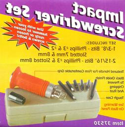 "6 Bit IMPACT SCREWDRIVER SET 1/2"" drive kit Remove frozen sc"