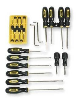 STANLEY 60-220 Screwdriver Set,Slotted/Phillips,20 Pc