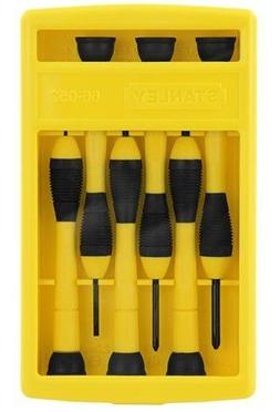 Stanley Tools 66052 6-Piece Precision Screwdriver Set, Black