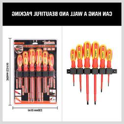 6pc 1000v insulated screwdriver set magnetic tips