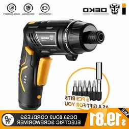 DEKO Cordless Electric Screwdriver Household DIY Rechargeabl