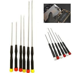 6PCS Precision Slotted & Phillips Screwdriver Set Electronic