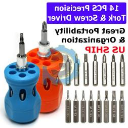 14 IN 1 Small MINI REPAIR PRECISION SCREWDRIVER TORX TOOL KI