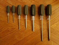 CRAFTSMAN 7 PIECE SCREWDRIVER SET PHILLIPS, SLOTTED, CUSHION