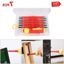 7PCS Electrician's Insulated Magnetic Electric Hand Screwdri