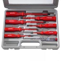 Felji 8-pc Insulated Electricians Screwdriver and Mains Test