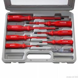 8pc Insulated Electricians Screwdriver and Mains Tester Set