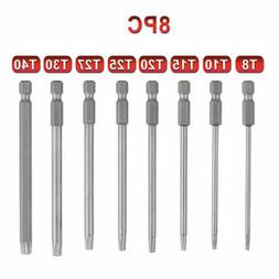 8pcs Torx Screwdriver Bit Set Hex Security Magnetic Head T8-