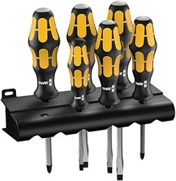 Wera 932/6 Kraftform Plus Screwdriver Set and Rack, 6-Pieces