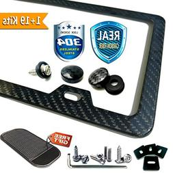 Carbon Fiber License Plate Frame 2 Holes, Anti-theft Install