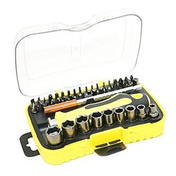 Dovewill 47 Pieces Screwdriver Drive Socket Set Mobile Phone