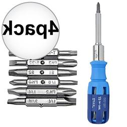 Lutz 15-IN-1 15-In-1 Ratcheting Screwdriver Set 4-Pack
