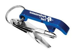 Performance Tool  Aluminum  Blue  Screwdriver Set  Key Chain