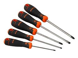 Bahco B219.015 5Piece Bahcofit Screwdriver Set Slotted/Pozid
