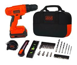 Black Decker BDCD120VA 20V Lithium DrillDriver Project Kit