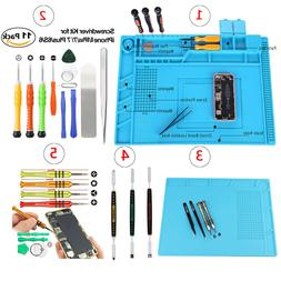 Cell Phone Screen Opening Tools Kit Screwdriver Silicone pad