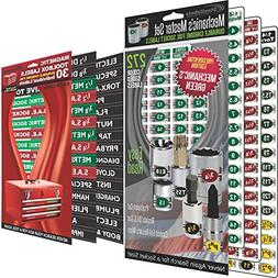 "Combo Deal -  Magnetic Toolbox Labels plus our best ""Maste"