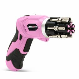 Pink Power Cordless Lithium-Ion Drill & Driver Kit for Women